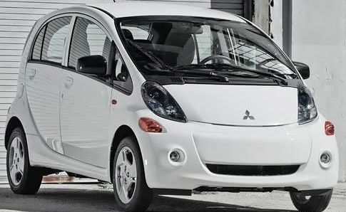 2012 Mitsubishi i-MiEV, Front quarter view., exterior, manufacturer