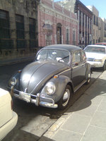 1969 Volkswagen Beetle, VW Beetle parked in Puebla city., exterior