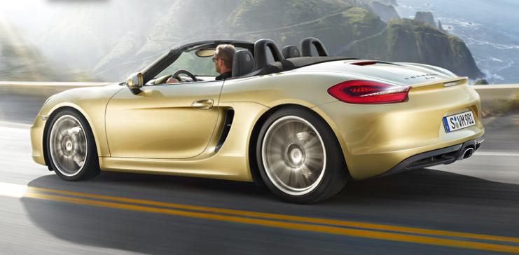 2013 Porsche Boxster, Back quarter view. , exterior, manufacturer