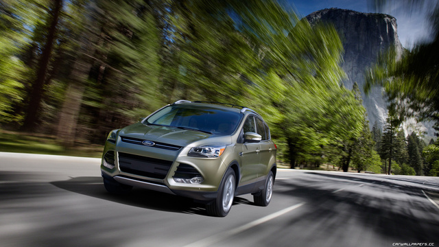 2013 Ford Escape Titanium FWD, 2013 FORD ESCAPE TITANIUM IN GINGER ALE, exterior, gallery_worthy