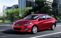 2013 Hyundai Accent, Front-quarter view, exterior, manufacturer