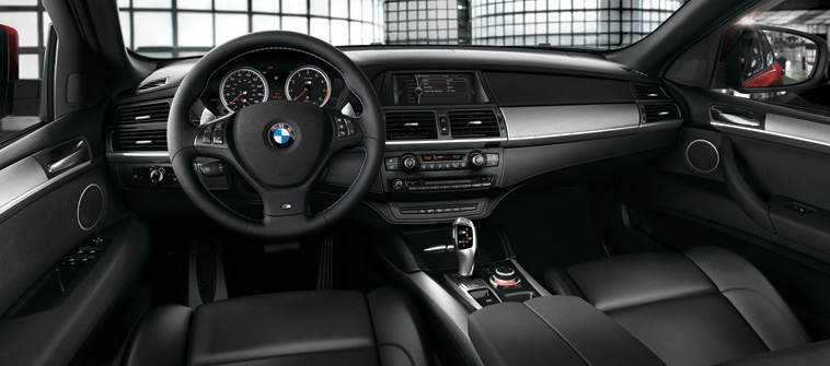 2013 BMW X6 M, interior front drivers view, manufacturer, interior