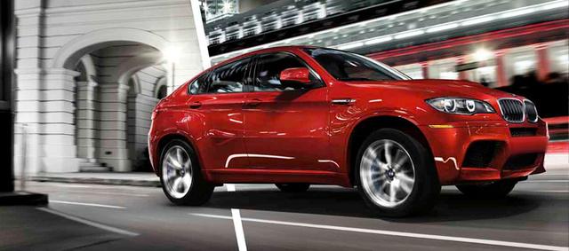 2013 BMW X6 M, exterior right front quarter view, exterior, manufacturer