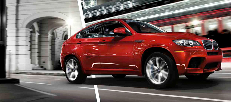 2013 BMW X6 M, exterior right front quarter view, exterior, manufacturer