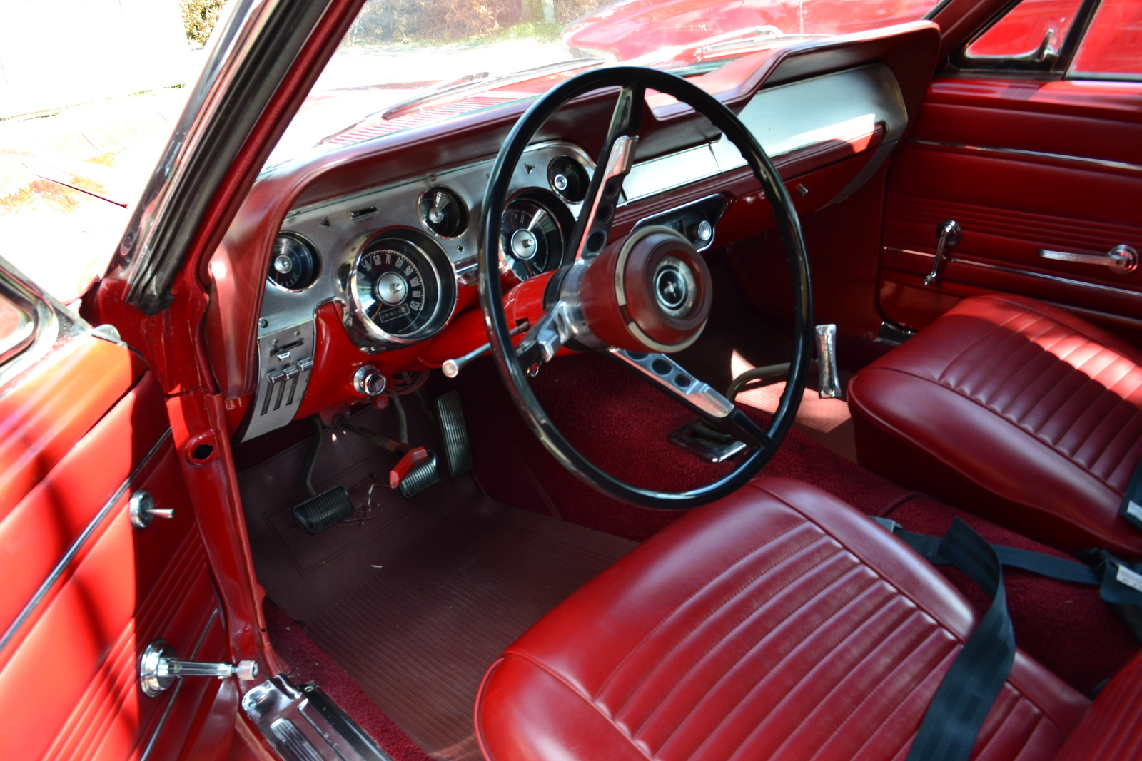 picture of 1967 ford mustang convertible interior - Red 1967 Ford Mustang Coupe