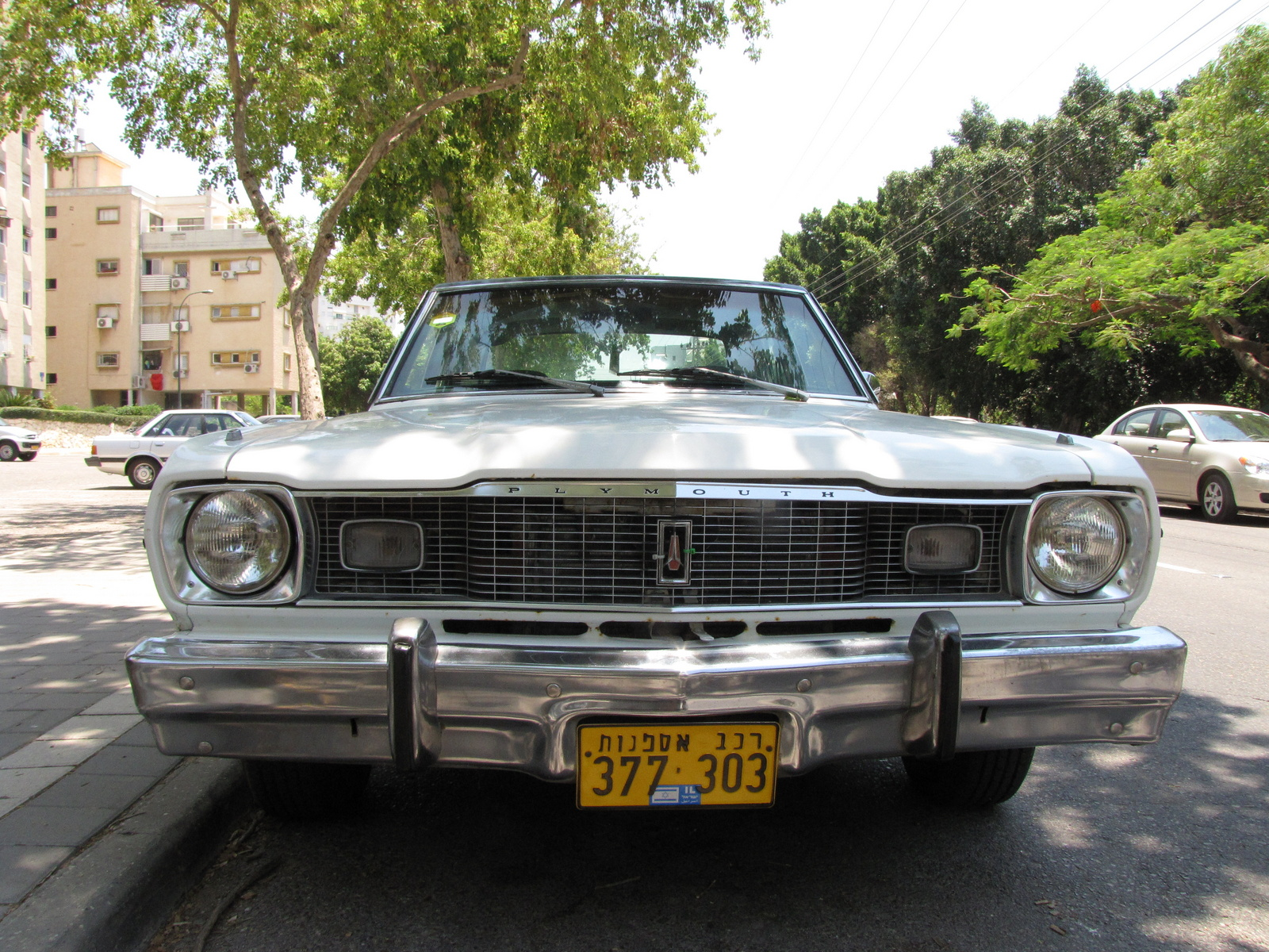 1975 Plymouth Valiant, My valiant front, exterior