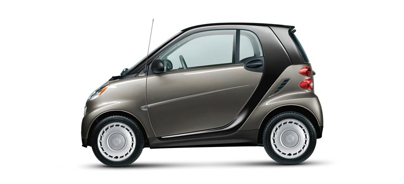 2013 smart fortwo, exterior left side view full, manufacturer, exterior