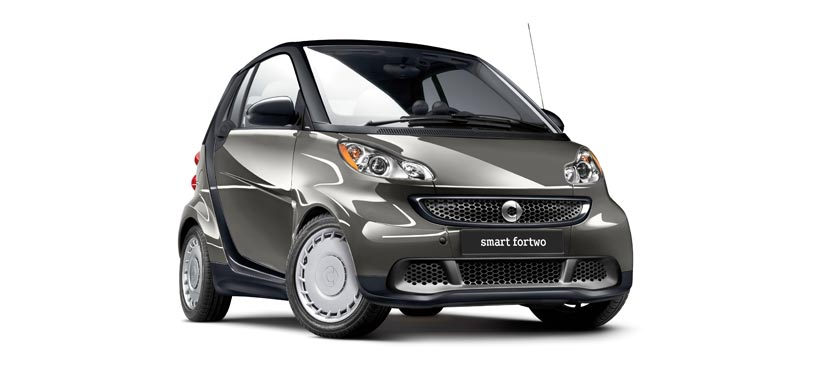 2013 smart fortwo, exterior right front quarter view, manufacturer, exterior