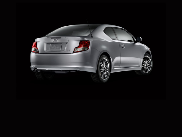 2013 Scion tC, exterior right rear quarter view, exterior, manufacturer