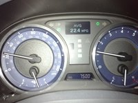 2012 Lexus IS 350 Base, The car at 7,500 miles.  Achieved while driving home from work., interior