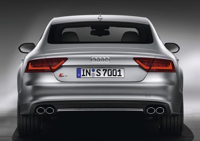 2013 Audi S7, exterior rear view full, exterior, manufacturer