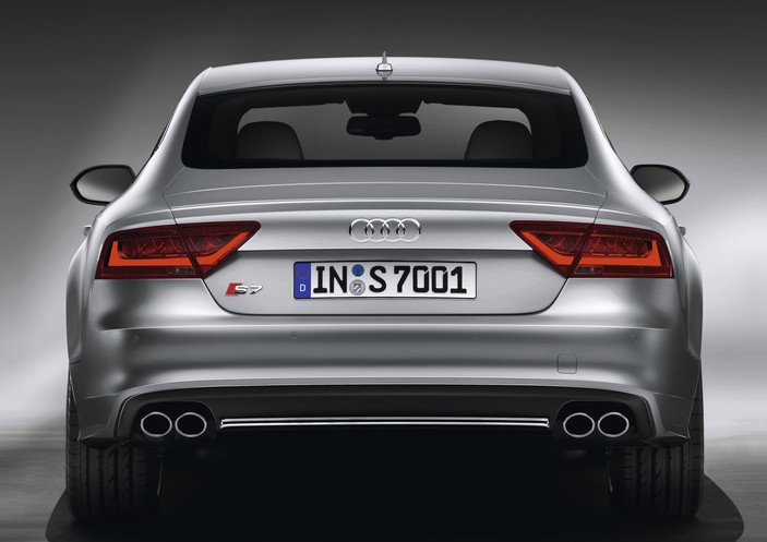 2013 Audi S7, exterior rear view full, exterior, manufacturer