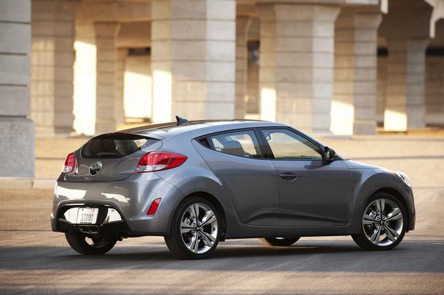 2013 Hyundai Veloster, Rear-quarter view, exterior, manufacturer