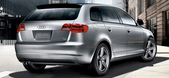 2013 Audi A3, exterior right rear quarter view, exterior, manufacturer