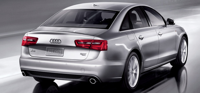 2013 Audi A6, exterior right rear quarter view, exterior, manufacturer