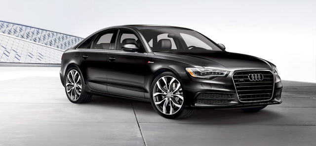 2013 Audi A6, exterior right front quarter view, exterior, manufacturer