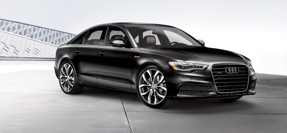 2013 Audi A6, exterior right front quarter view, exterior, manufacturer