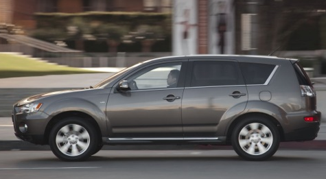 2013 Mitsubishi Outlander, Side View., exterior, manufacturer