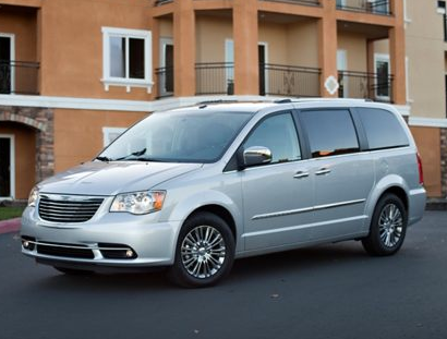 2013 Chrysler Town & Country, Front quarter view copyright AOL Autos., exterior, manufacturer