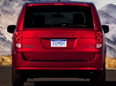 2013 Dodge Grand Caravan, Back View copyright AOL Autos., exterior, manufacturer