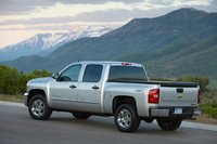 2013 Chevrolet Silverado Hybrid, exterior left rear quarter view, exterior, manufacturer