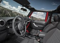 2013 Jeep Wrangler, Front quarter view copyright AOL Autos., interior, manufacturer