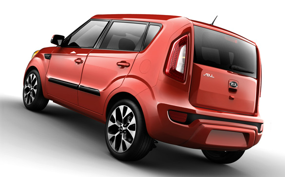 2013 Kia Soul, Back quarter view., manufacturer, exterior