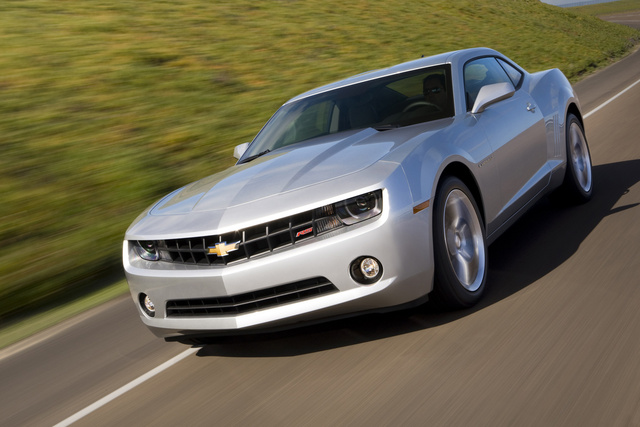 2013 Chevrolet Camaro, Front-quarter view. Copyright General Motors., exterior, manufacturer