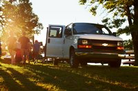 2013 Chevrolet Express, Right-front quarter. Copyright General Motors. , manufacturer, exterior