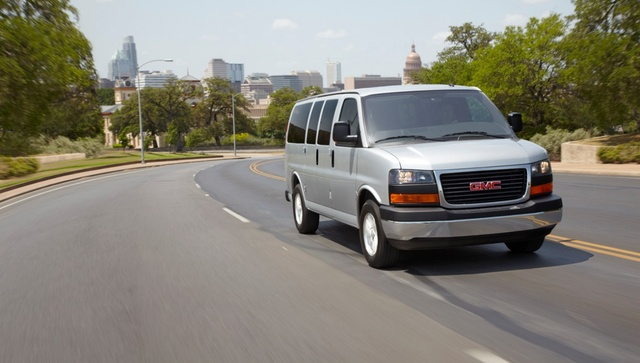 2013 GMC Savana, Front-left quarter. Copyright GM., exterior, manufacturer