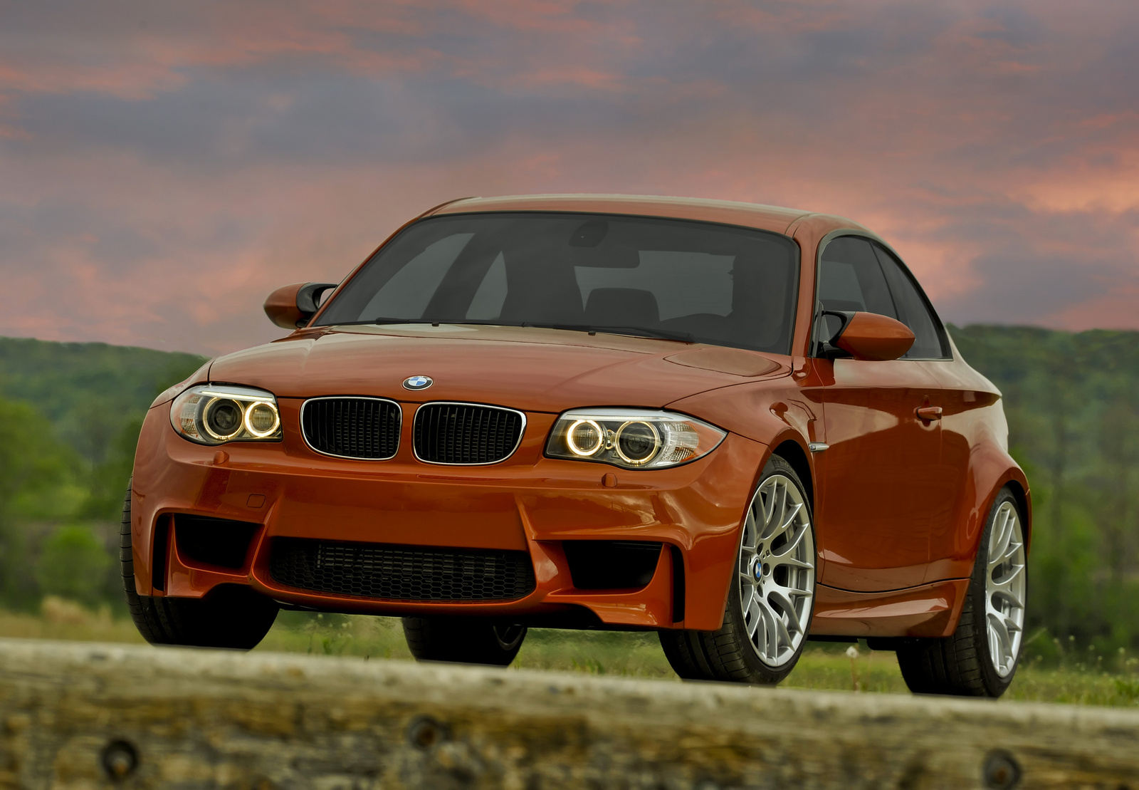 2011 BMW 1M, Front-right quarter. Copyright BMW. , exterior, manufacturer