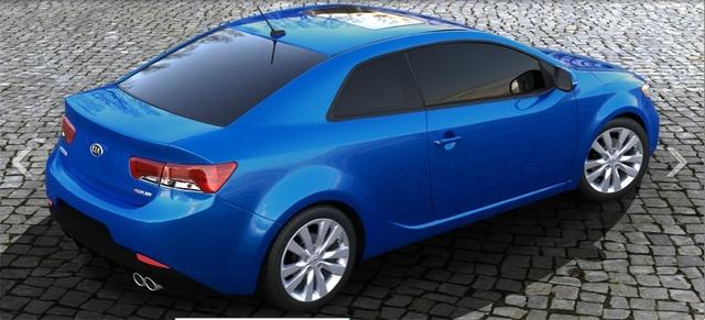 2013 Kia Forte Koup, exterior right rear quarter view, exterior, manufacturer