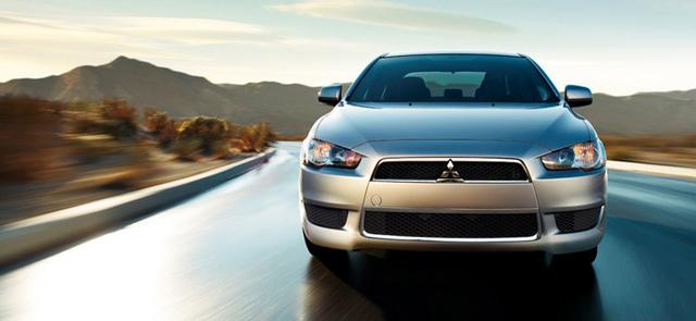 2013 Mitsubishi Lancer, exterior front full view, exterior, manufacturer