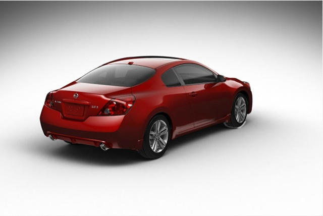2013 Nissan Altima Coupe, exterior right rear quarter view, exterior, manufacturer