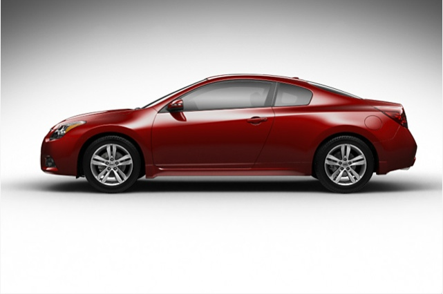 2013 Nissan Altima Coupe, exterior side view full, manufacturer, exterior