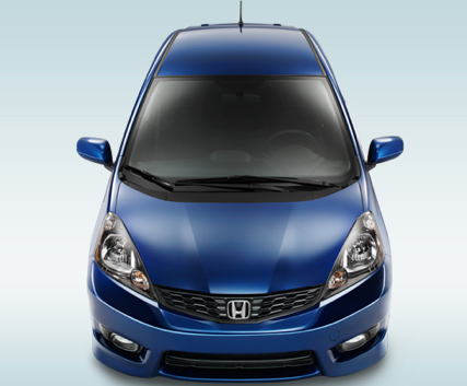 2013 Honda Fit, Back quarter view., exterior, manufacturer