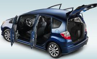 2013 Honda Fit, Back quarter view., manufacturer, exterior