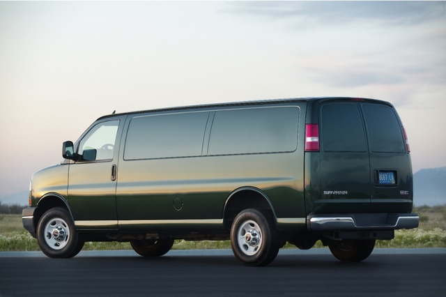 2013 GMC Savana Cargo, exterior left rear quarter view, exterior, manufacturer