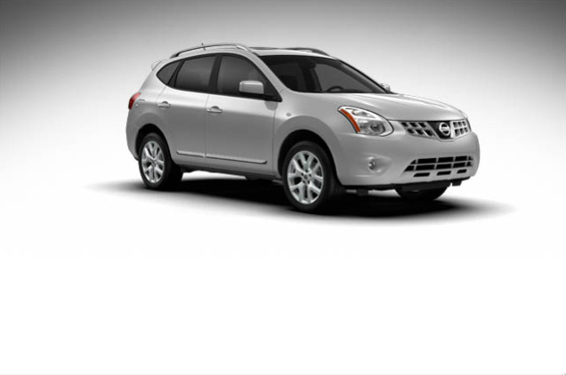 2013 Nissan Rogue, exterior right front quarter view, exterior, manufacturer