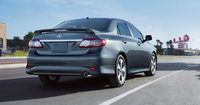 2013 Toyota Corolla, rear right quarter view, manufacturer, exterior
