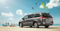 2013 Toyota Sienna, left rear quarter view, manufacturer, exterior