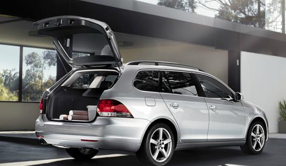 2013 Volkswagen Jetta SportWagen, Back quarter view., exterior