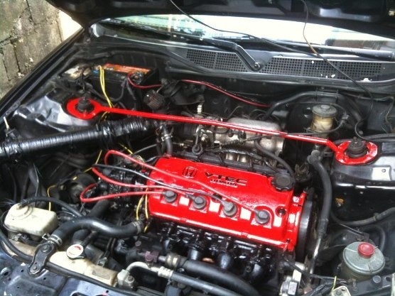 Picture of 1996 Honda Civic EX, engine