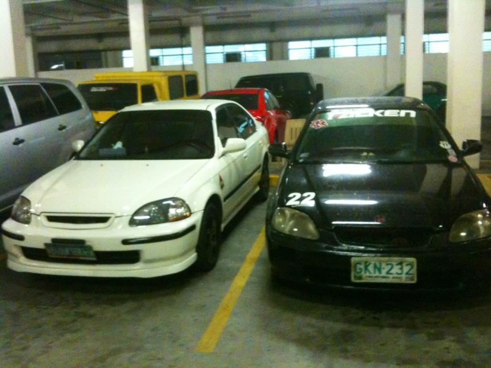 1996 Honda Civic EX, Ebony & Ivory '96 Civic EK Sedans..., exterior
