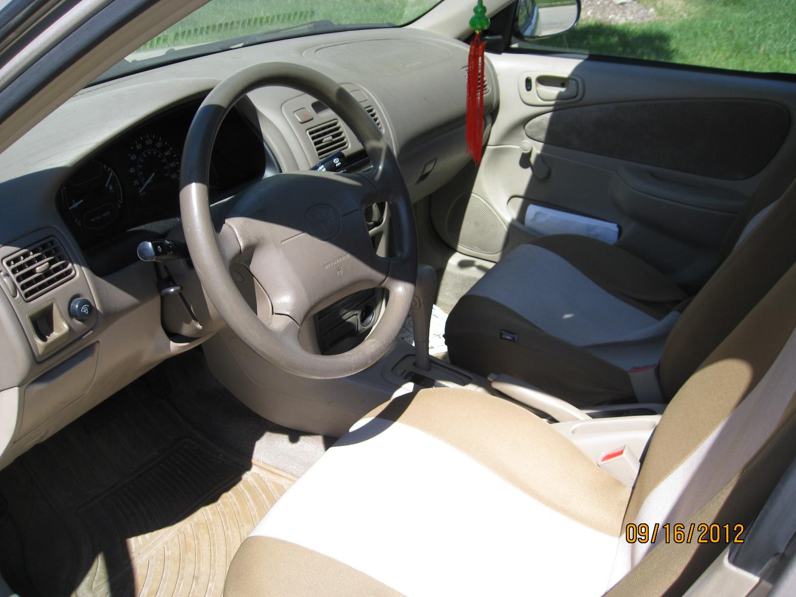 Toyota Corolla Interior 2002 2002 Toyota Corolla Interior