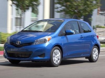 2013 Toyota Yaris, Front quarter view copyright AOL Autos., exterior, manufacturer