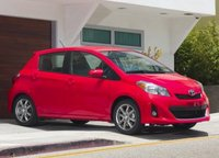 2013 Toyota Yaris, Front quarter view copyright AOL Autos., manufacturer, exterior