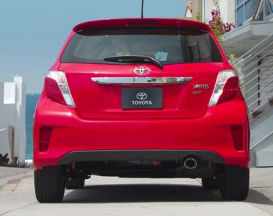 2013 Toyota Yaris, Back View copyright AOL Autos. , manufacturer, exterior