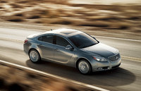 2013 Buick Regal, Front-quarter view from above. Copyright General Motors, manufacturer, exterior