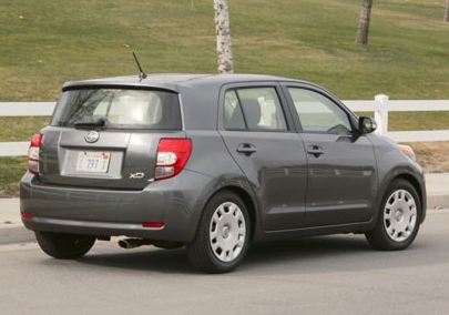 2013 Scion xD, Back quarter view., exterior, manufacturer